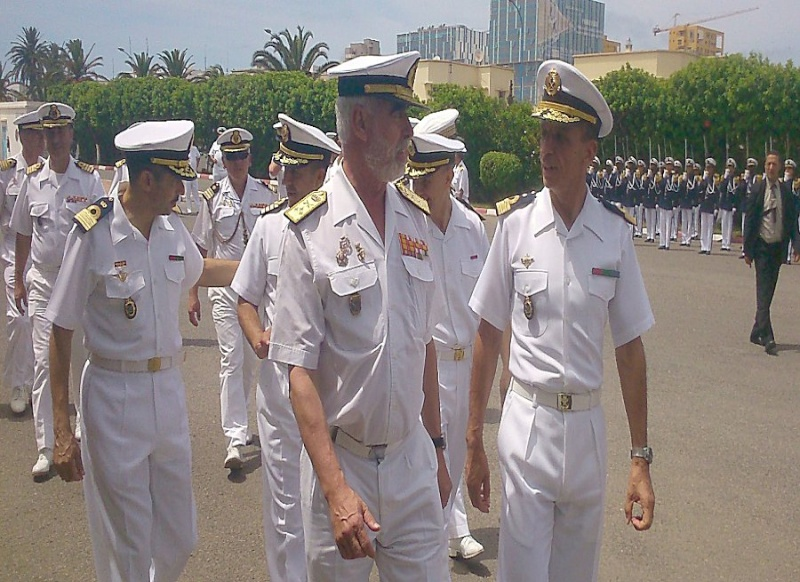 Royale - Officiers participants exercice marine Maroc  royale  Europe Maj310