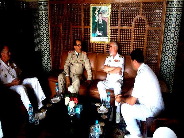 Royale - Officiers participants exercice marine Maroc  royale  Europe Mce_0011