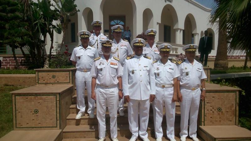 Royale - Officiers participants exercice marine Maroc  royale  Europe Mce_0012