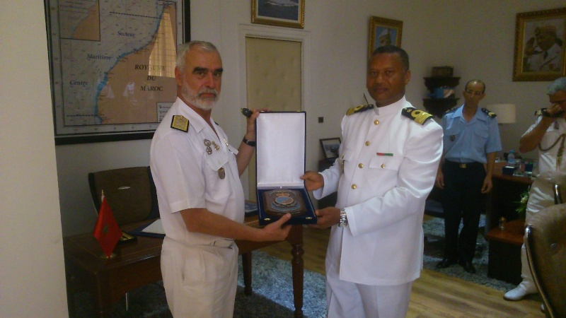 Royale - Officiers participants exercice marine Maroc  royale  Europe Mce_0013