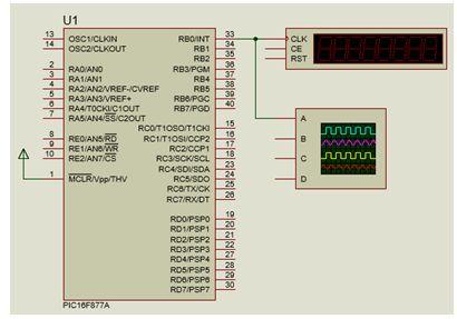 برنامج مولد نبضات بتردد 1KHz باستخدام المقاطعة بالمؤقت Timer0 122