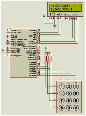 ربط الميكروكونترولر PIC16F877A مع لوحة مفاتيح Keypad ووحدة عرض LCD  214