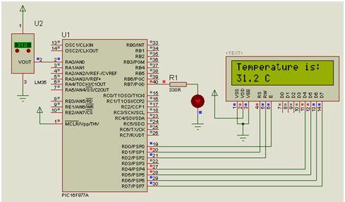 تدريب : استخدام المحول ADC لقياس درجة الحرارة بالحساس LM35 مع المترجم CCS C  : 215
