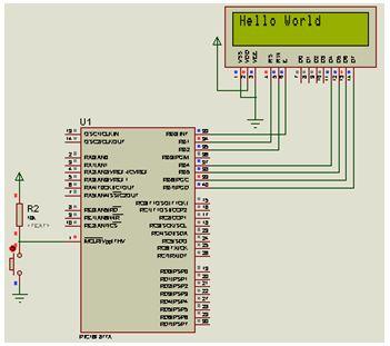 دليل ربط شاشة LCD نوع 2X16 بالميكروكونترولر PIC16F877A مع استخدام المترجم CCS C : 412