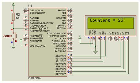 المؤقت / العداد Timer0 مع المترجم CCS C  :   أولا : الاستخدام كعداد   413