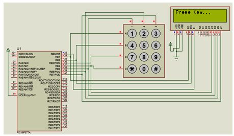 استخدام وحدة LCD لعرض بيانات المفتاح الذى تم الضغط عليه باستخدام الربط مع منفذ واحد : 415