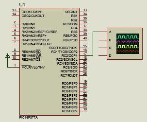 استخدام وضع تعديل عرض النبضات PWM فى توليد نبضات متغيرة العرض : 417