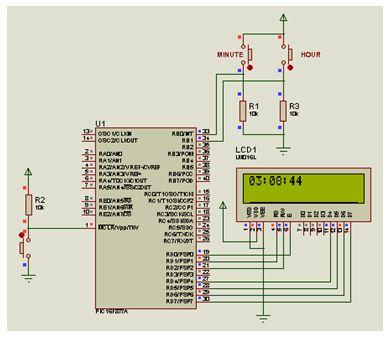 تدريب  : برنامج إنشاء ساعة بسيطة قابلة للإعداد (الضبط) باستخدام وحدة العرض LCD : 511