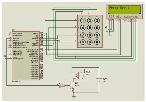 مشروع قفل إلكترونى بسيط باستخدام ذاكرة EEPROM بالميكروكونترولر ولوحة مفاتيح وشاشة LCD : 512