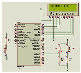تدريب : برنامج بسيط لعداد تصاعدى تنازلى باستخدام وحدة العرض LCD : 611
