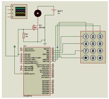 مشروع التحكم فى محرك تيار مستمر باستخدام التعديل فى عرض النبضات ولوحة المفاتيح : 612