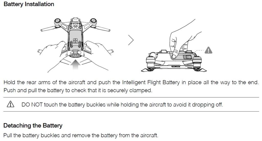 Batterie Spark non officielle Insert10