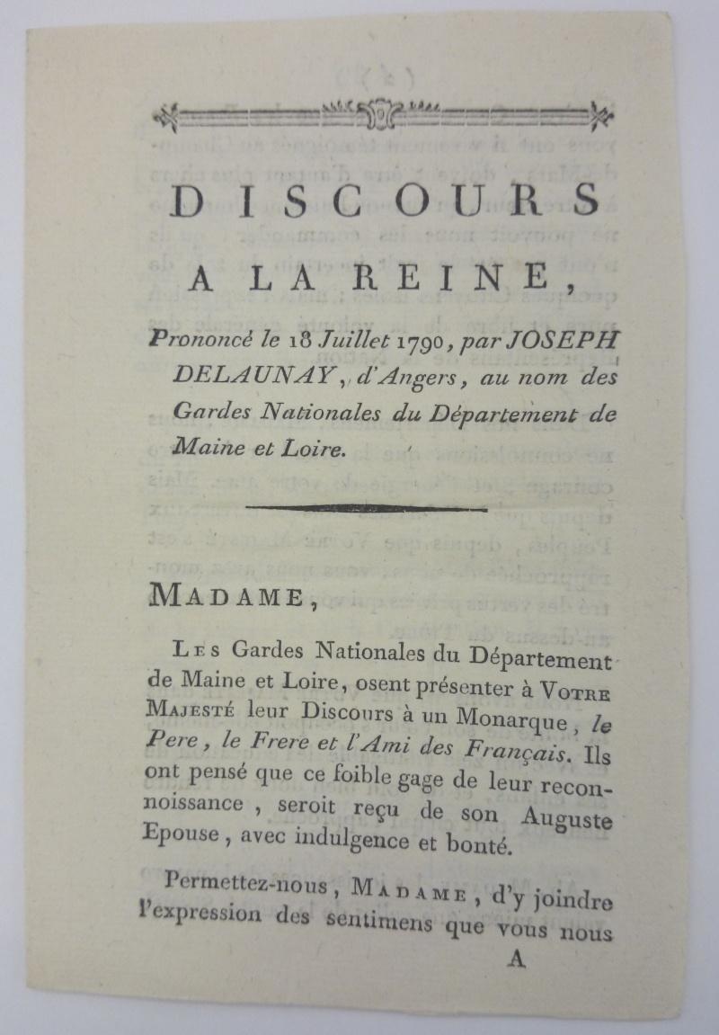 Discours dédié à la reine,  avec la réponse de Marie-Antoinette ajoutée par Axel de Fersen Dsc_0810