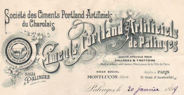 Ciment portland - Plomb de scelle pour du ciment Portland non attribuable. Ciment10