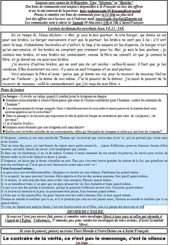Trait d'union du 19 avril 2015 Tu150415