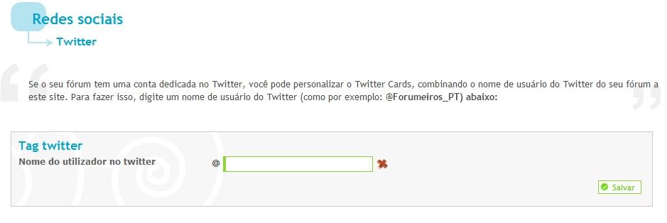 """Novo recurso: Cartão do twitter e botão """"tweet"""" em seus tópicos Cp_twi10"""