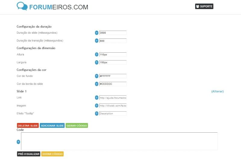 [TUTORIAL] Gerador de slides Form10