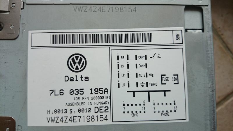 Autoradio VW DELTA (7L6 035 195A) Dsc_6812