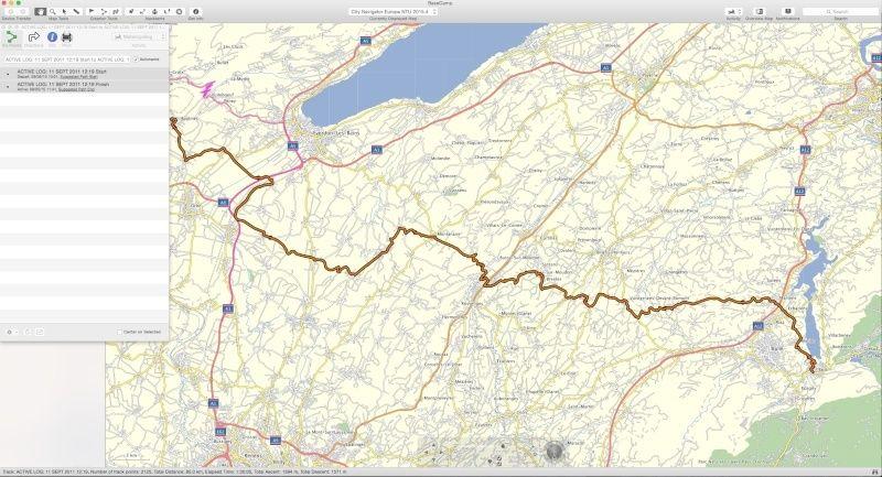 Itinéraire depuis trace, 2 points, départ et arrivée Screen11