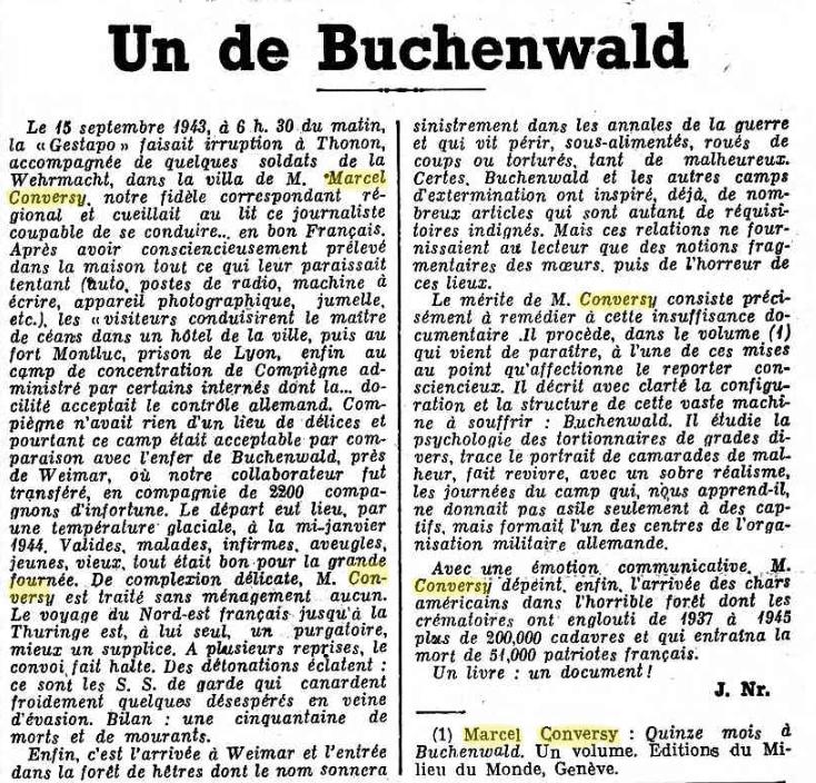 Rentrée très particulière de Buchenwald ! Gazett10