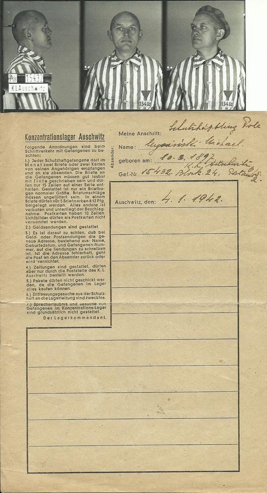 Lettre d'Auschwitz Numzo113