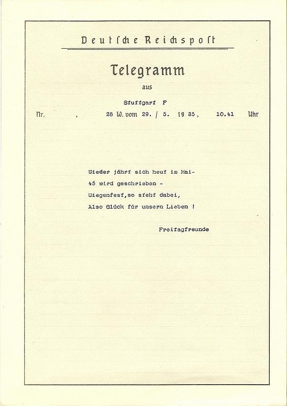 Un joli télégramme Numzor41
