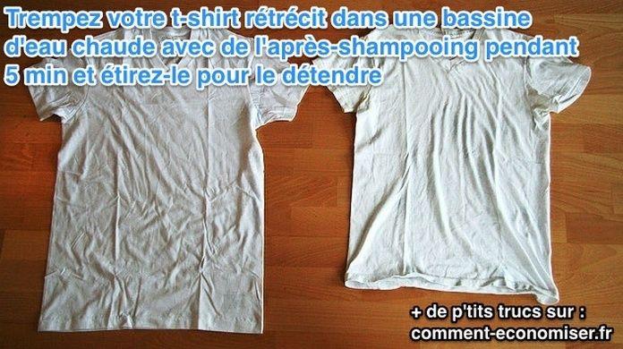 Comment agrandir un tee-shirt qui a rétréci  Tee10