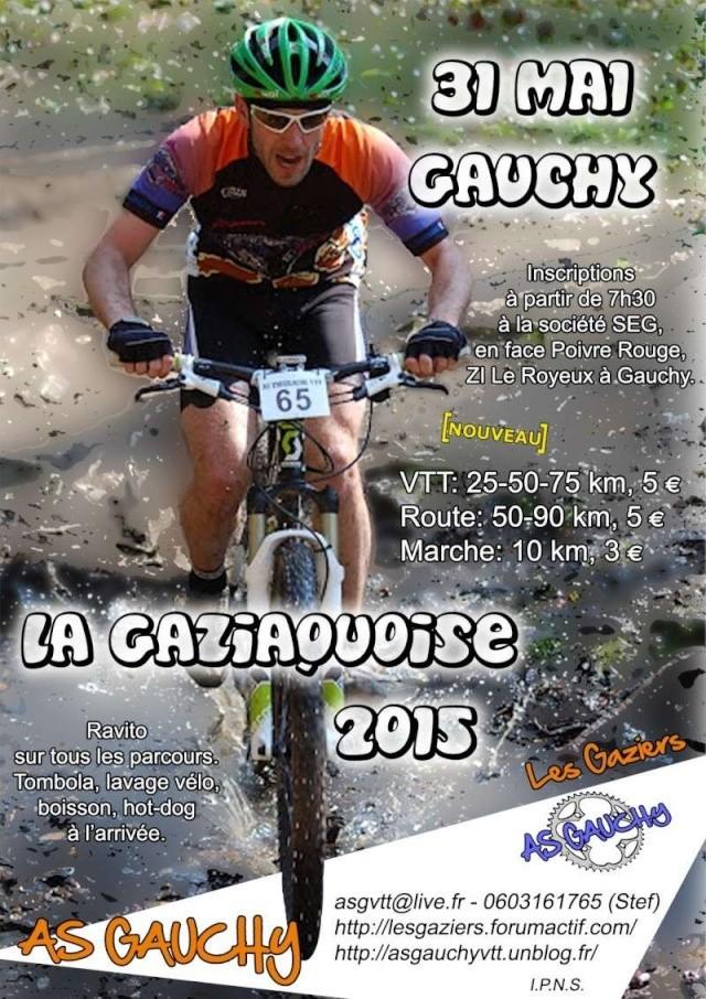 [02] La Gaziaquoise (Gauchy)31/05/15 Affich10