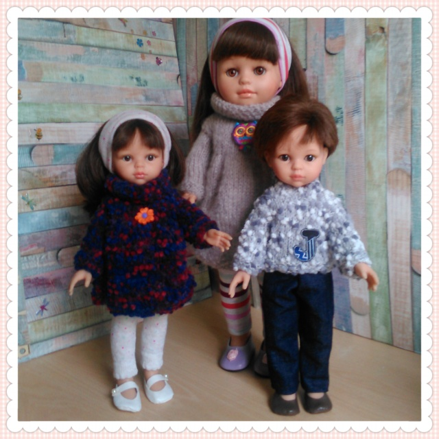 quelques unes de mes poupées Portab12