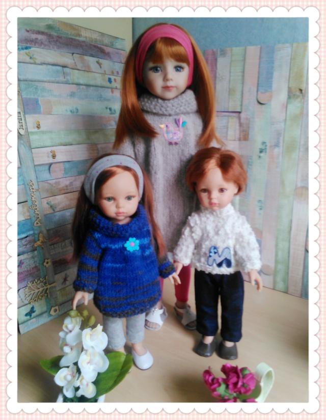 quelques unes de mes poupées Portab13