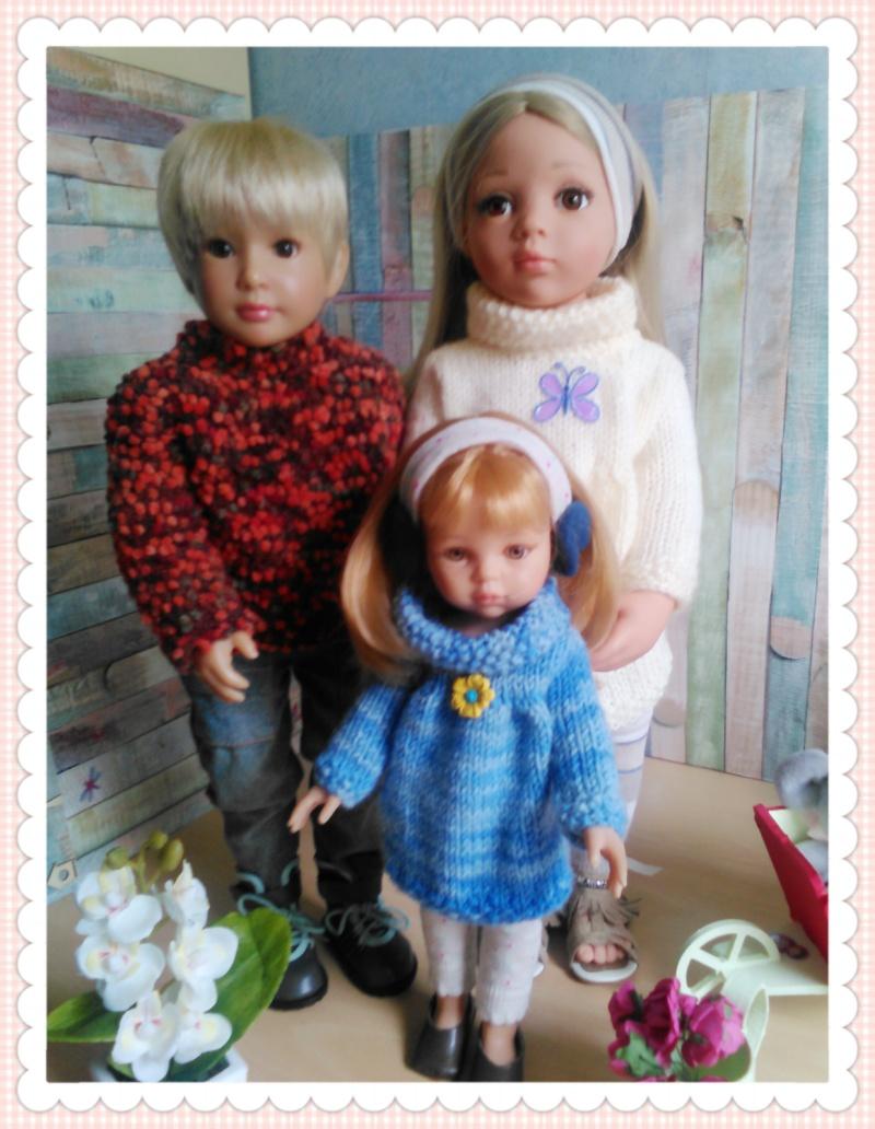 quelques unes de mes poupées Portab15