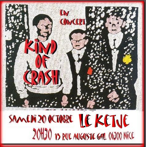 Kind Of Crash Nice 20.10.2018 Affich11