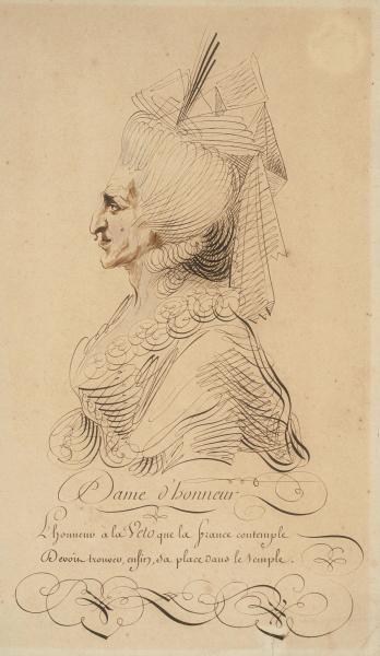 A vendre : caricature de la Reine Marie-Antoinette 49850810