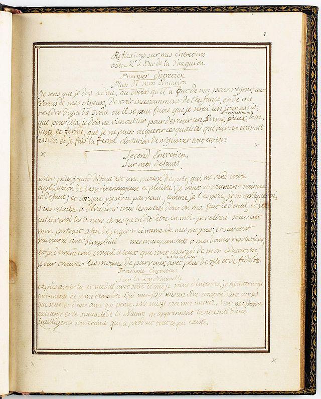 Correspondance et écrits du Roi Louis XVI 640px-11