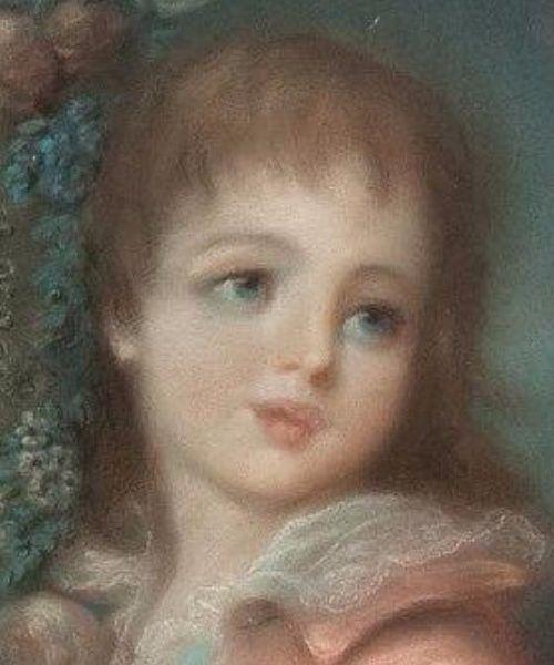 A vendre: Pastel représentant les Enfants dessinant le Roi Louis XVI Tylych17