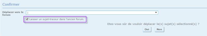"""Option """"sujet traçeur"""" non disponible 18-03-15"""