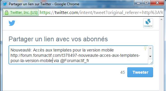 """Le bouton """"Tweet"""" de Twitter 20-05-20"""