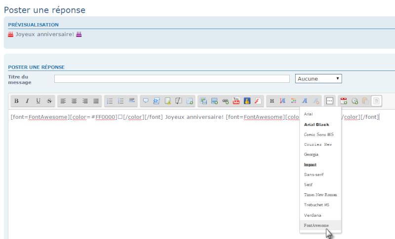 Comment installer et utiliser Font Awesome sur son forum 23-04-21