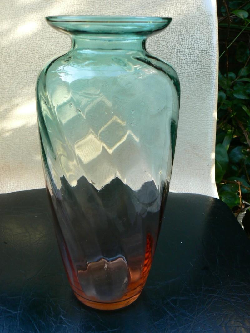 Mouth blown twin colour vase P1180417