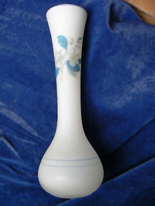 frosted GLASS White vase P1510