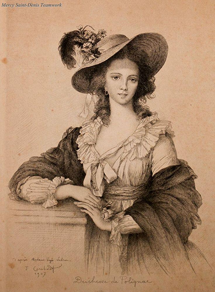 Miniature de Madame de Polignac d'après Madame Vigée Lebrun 96d02e10