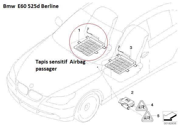 [ BMW E60 525d an 2005 ] Dysfonctionnement Airbag et rétracteur de ceinture et limiteur de ceinture  65_e6010