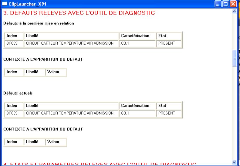 Circuit capteur air température admission DF039 scenic 2 DCI 130 FAP Df03910