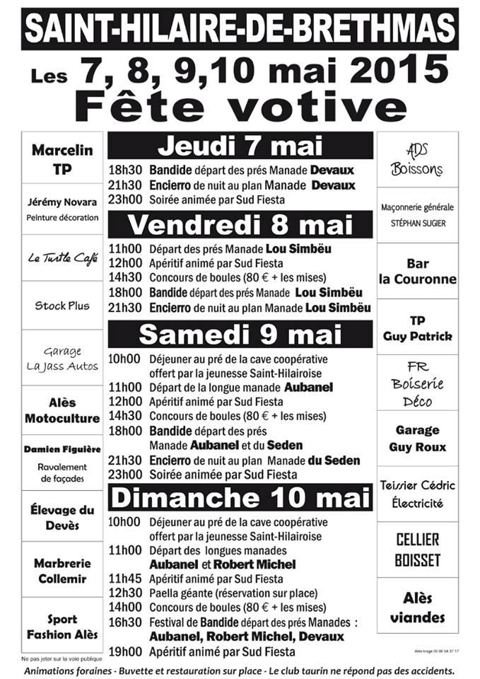 Saint Hilaire de Brethmas en fête les 7.8.9 et 10 Mai 2015!!!! 11037115