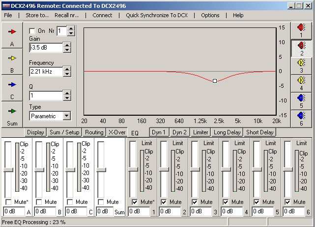 Filtre actif numérique DCX 2496 Eq10