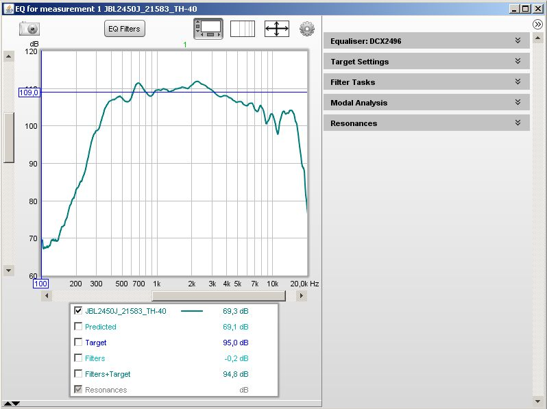 Filtre actif numérique DCX 2496 Rew_eq10