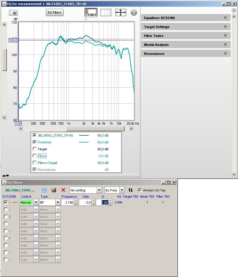 Filtre actif numérique DCX 2496 Rew_eq14