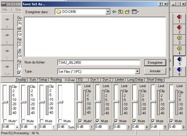 Filtre actif numérique DCX 2496 Save_c10