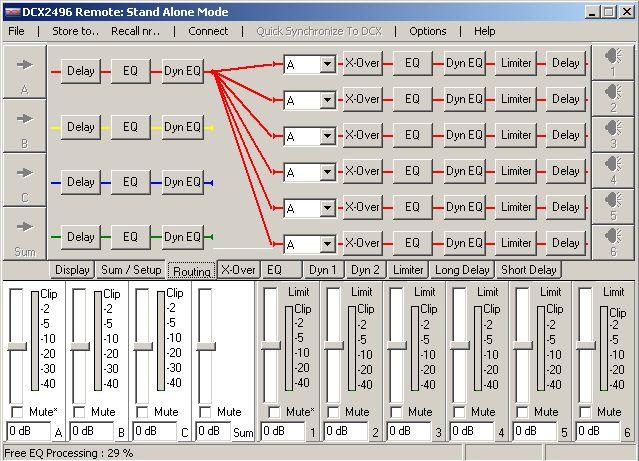 Filtre actif numérique DCX 2496 Start10