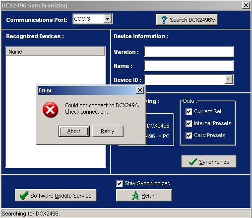 Filtre actif numérique DCX 2496 Synchr12